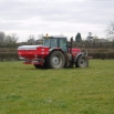 Fertiliser spreader set-up